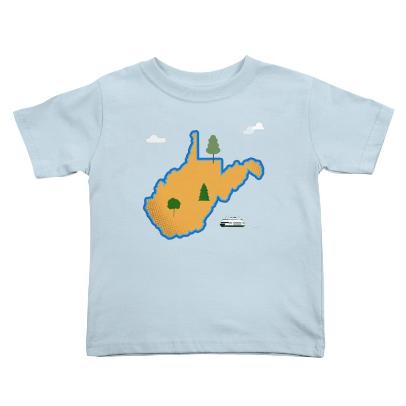 West Virginia Island Kids Toddler T-Shirt by Illustrations by Phil