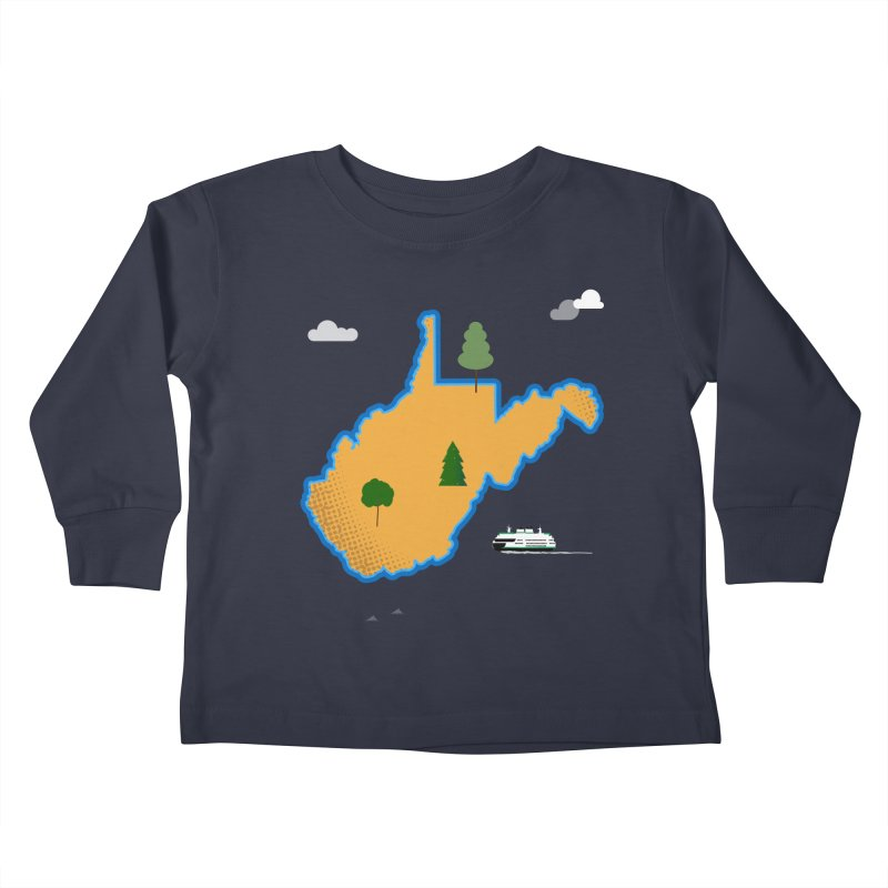 West Virginia Island Kids Toddler Longsleeve T-Shirt by Illustrations by Phil