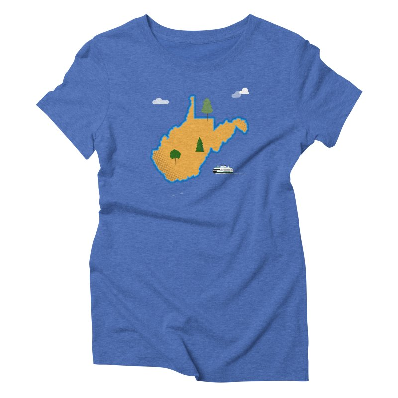 West Virginia Island Women's Triblend T-Shirt by Illustrations by Phil