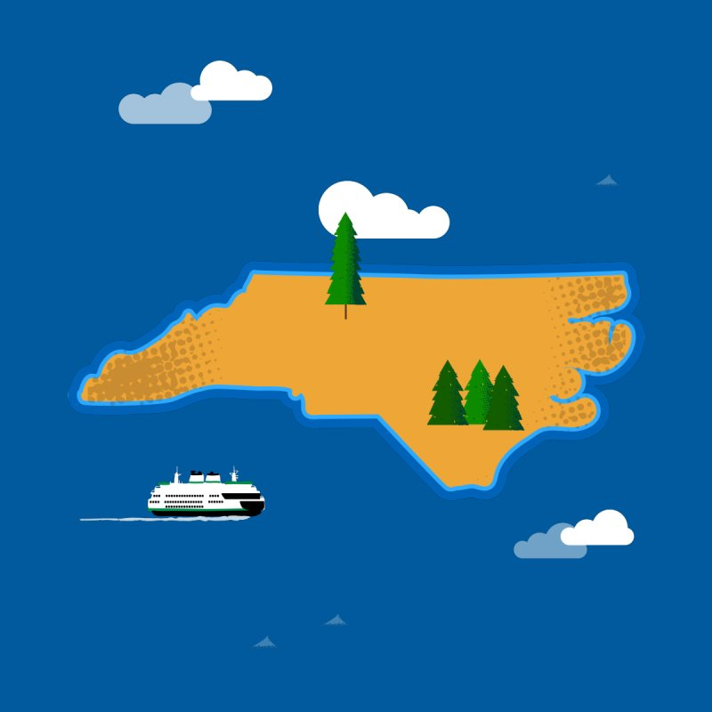 North Carolina Island Home Stretched Canvas by Illustrations by Phil