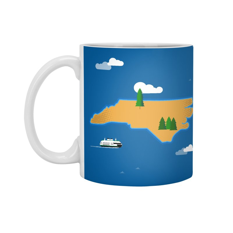 North Carolina Island Accessories Standard Mug by Illustrations by Phil