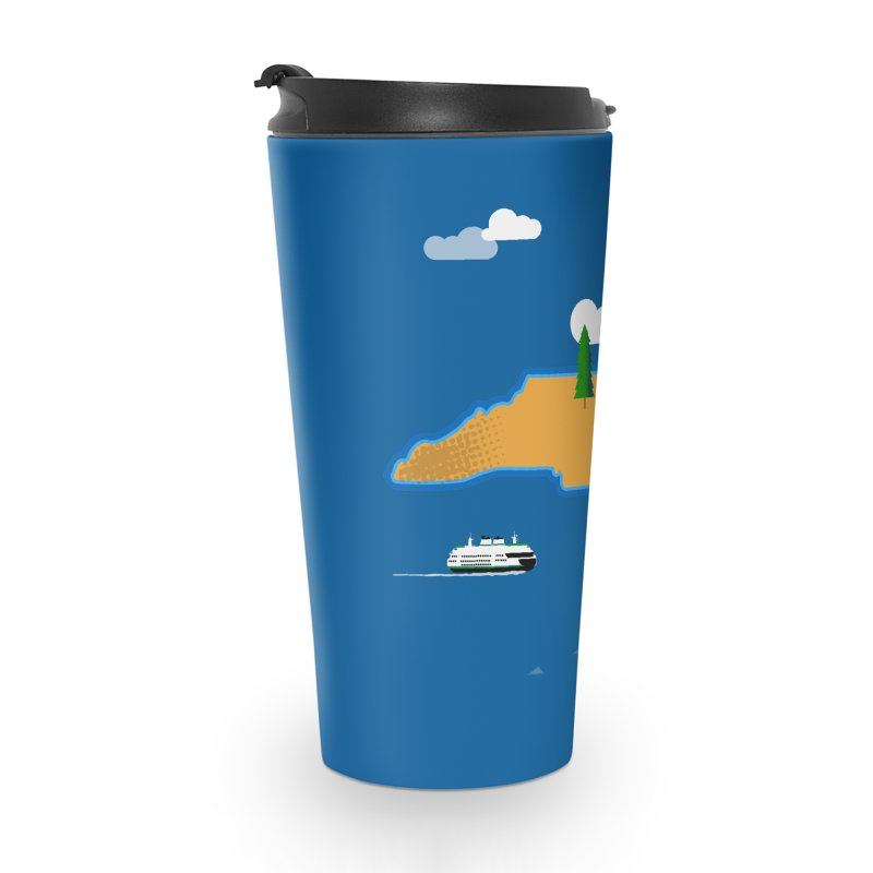 North Carolina Island Accessories Travel Mug by Illustrations by Phil
