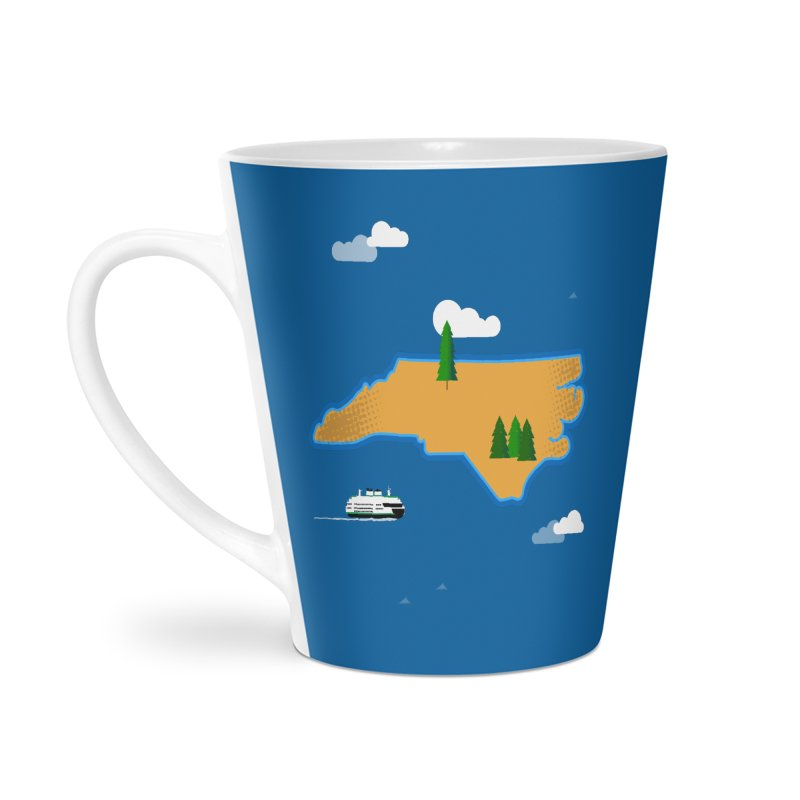 North Carolina Island Accessories Latte Mug by Illustrations by Phil