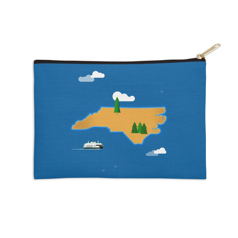 North Carolina Island Accessories Zip Pouch by Illustrations by Phil