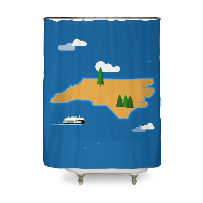 North Carolina Island Home Shower Curtain by Illustrations by Phil