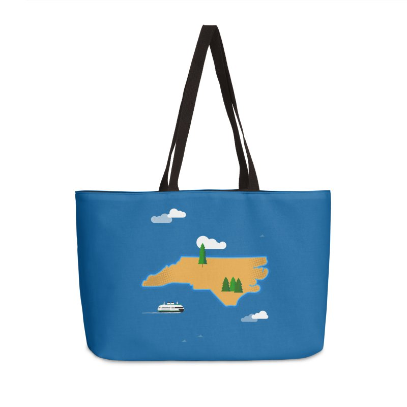 North Carolina Island Accessories Weekender Bag Bag by Illustrations by Phil