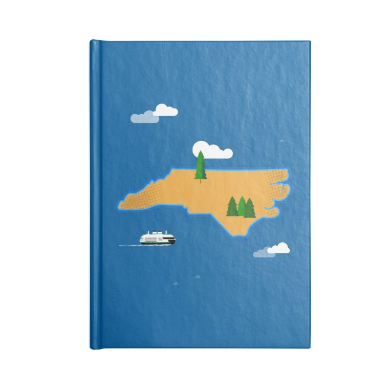North Carolina Island Accessories Lined Journal Notebook by Illustrations by Phil
