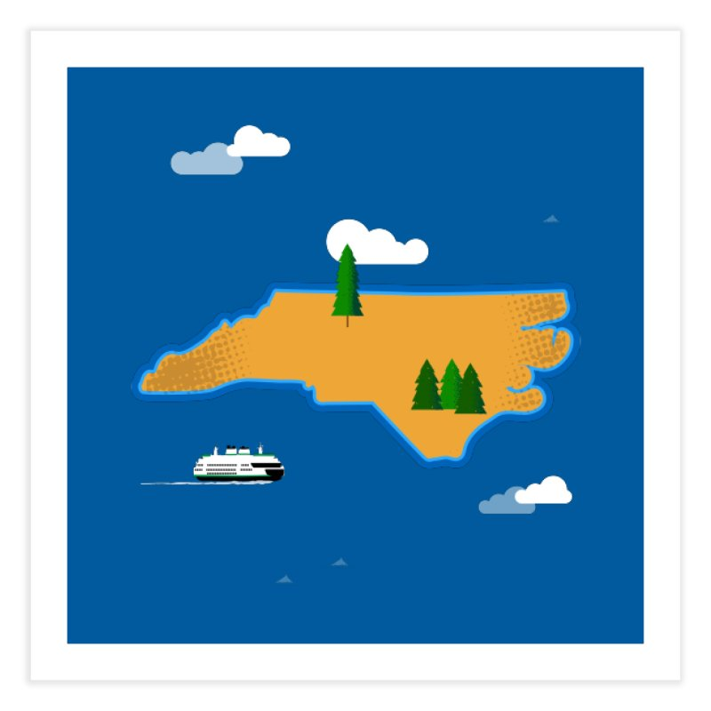 North Carolina Island Home Fine Art Print by Illustrations by Phil