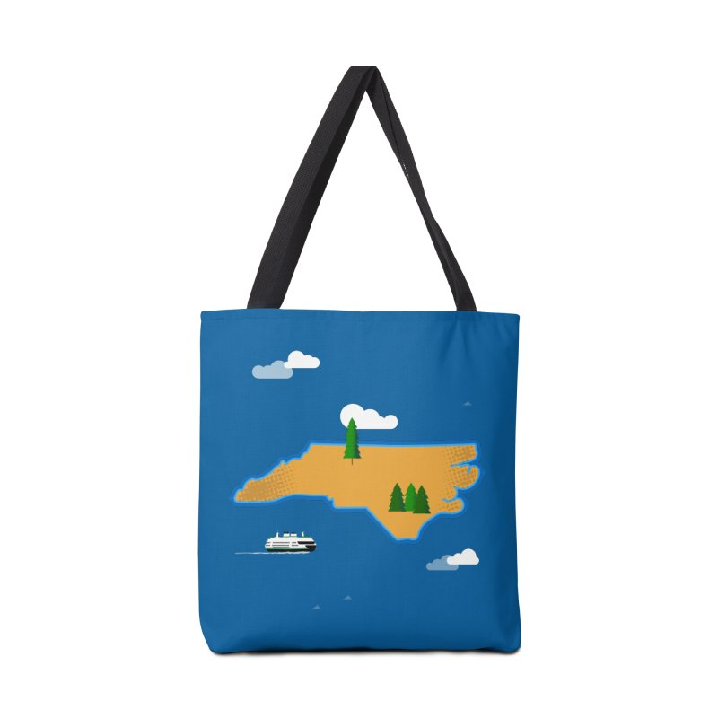 North Carolina Island Accessories Tote Bag Bag by Illustrations by Phil