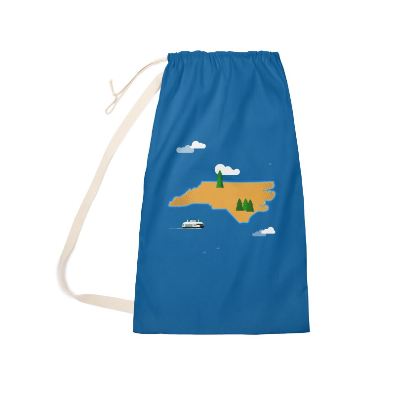 North Carolina Island Accessories Laundry Bag Bag by Illustrations by Phil