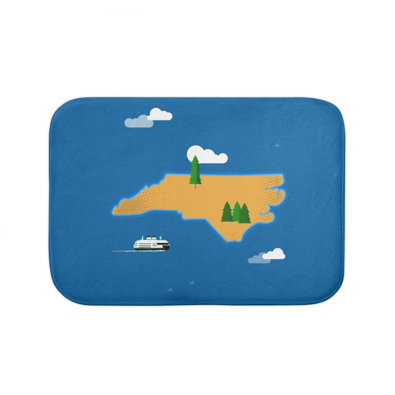 North Carolina Island Home Bath Mat by Illustrations by Phil