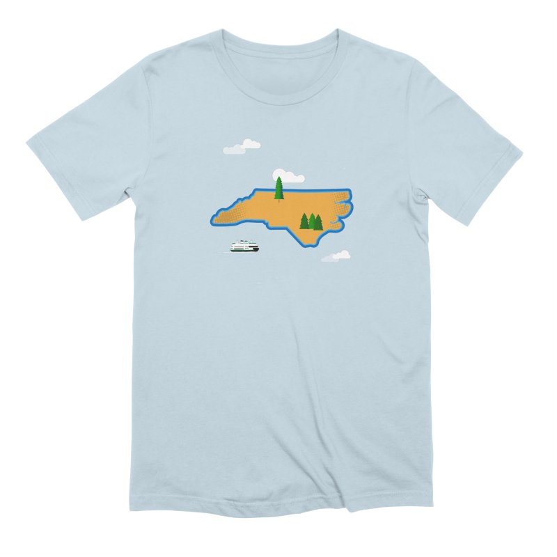 North Carolina Island Men's Extra Soft T-Shirt by Illustrations by Phil
