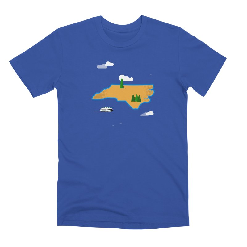 North Carolina Island Men's T-Shirt by Illustrations by Phil