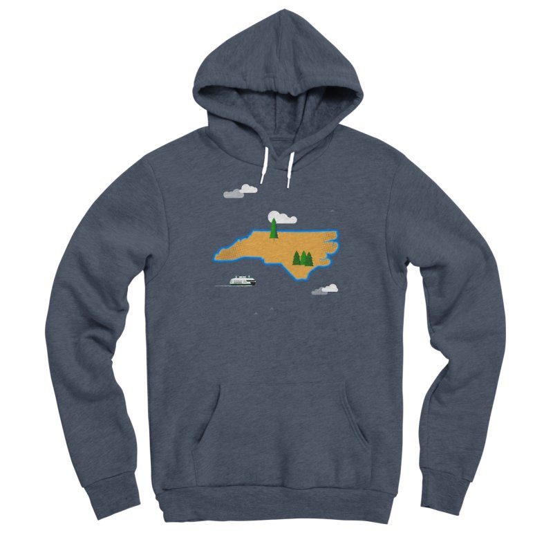 North Carolina Island Women's Sponge Fleece Pullover Hoody by Illustrations by Phil
