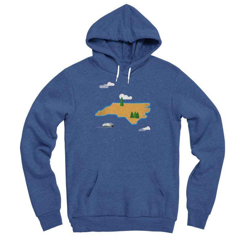North Carolina Island Men's Pullover Hoody by Illustrations by Phil