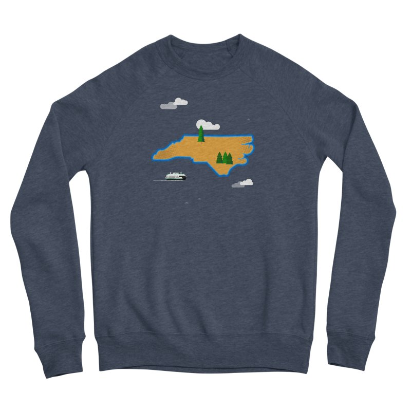 North Carolina Island Men's Sponge Fleece Sweatshirt by Illustrations by Phil