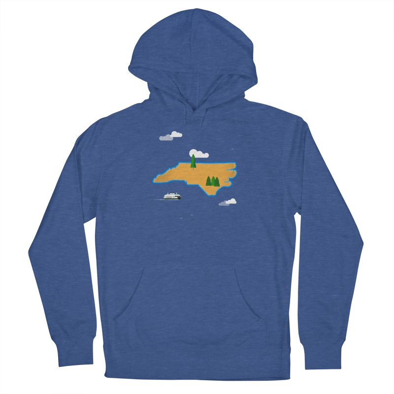 North Carolina Island Women's French Terry Pullover Hoody by Illustrations by Phil