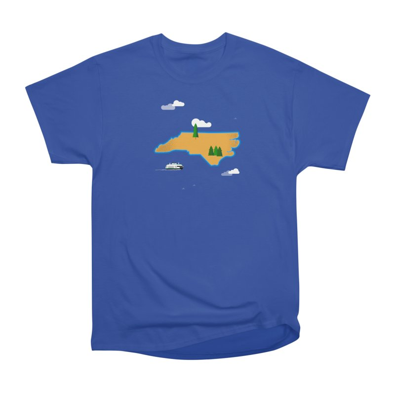 North Carolina Island Women's Heavyweight Unisex T-Shirt by Illustrations by Phil