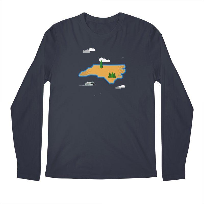 North Carolina Island Men's Regular Longsleeve T-Shirt by Illustrations by Phil