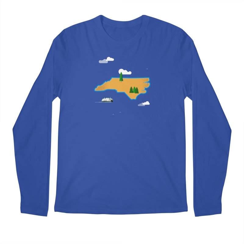 North Carolina Island Men's Regular Longsleeve T-Shirt by Illustrations by Phil