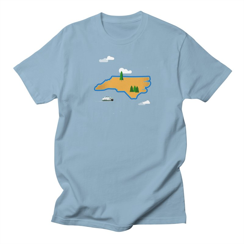 North Carolina Island Men's Regular T-Shirt by Illustrations by Phil