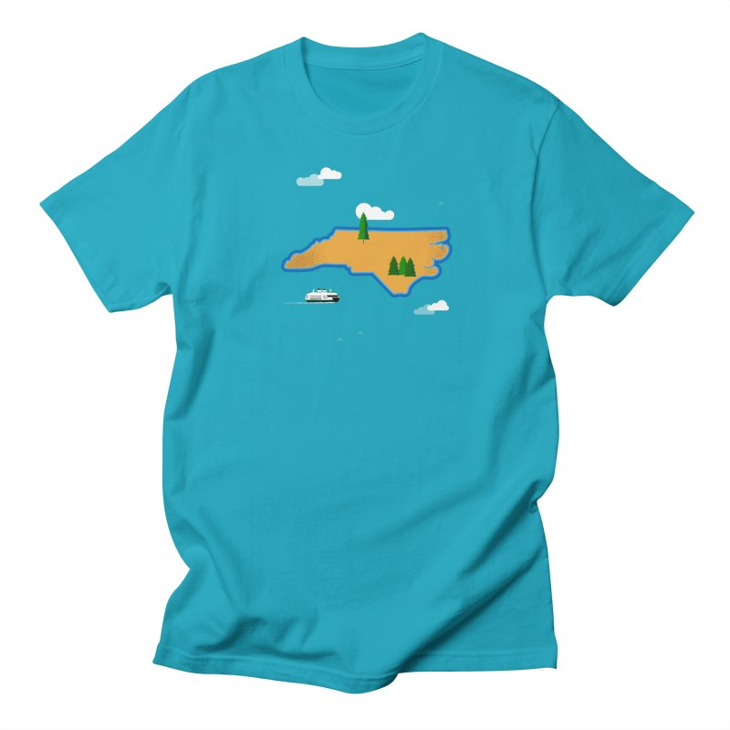 North Carolina Island Women's Regular Unisex T-Shirt by Illustrations by Phil