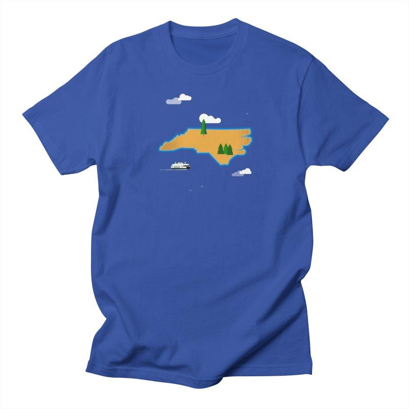 North Carolina Island Women's Regular Unisex T-Shirt by Illustrations by Phil