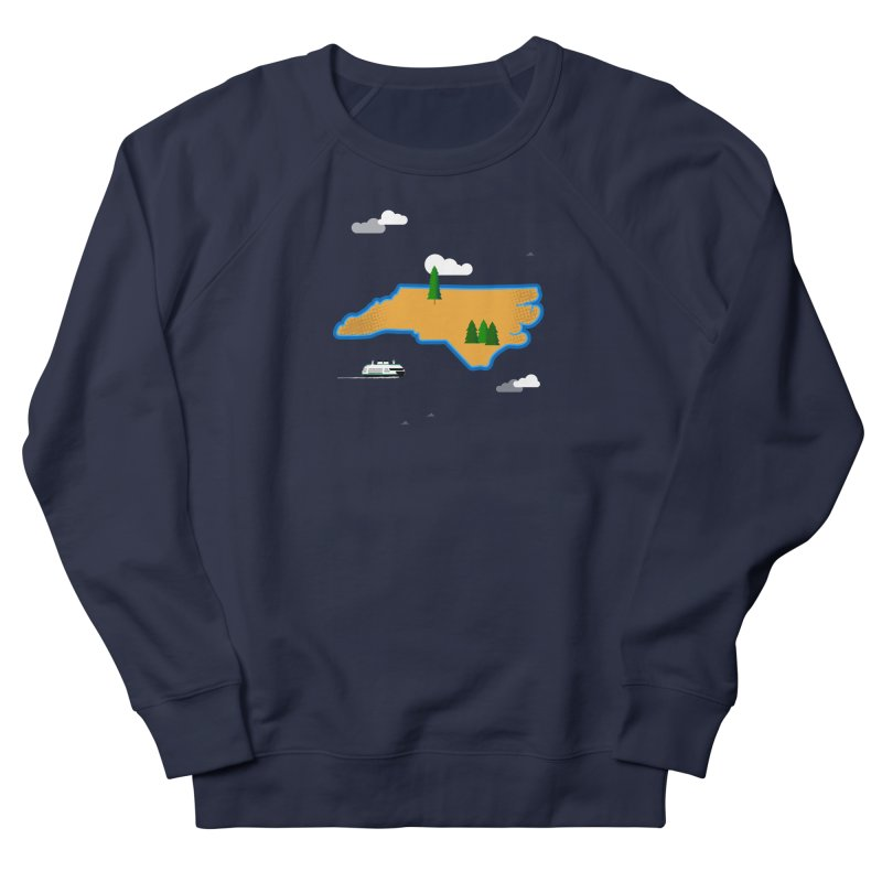 North Carolina Island Women's French Terry Sweatshirt by Illustrations by Phil