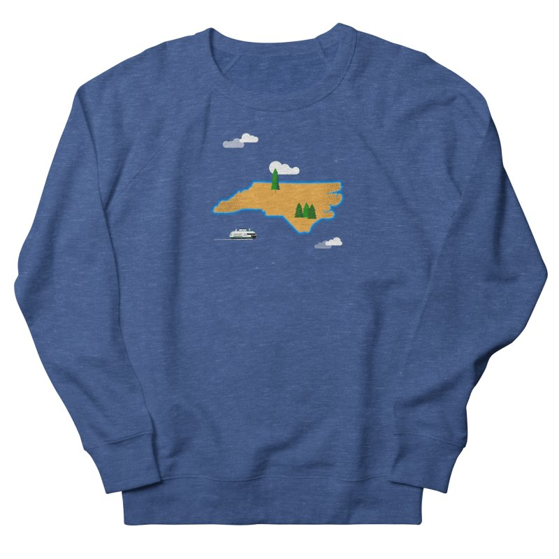 North Carolina Island Men's French Terry Sweatshirt by Illustrations by Phil