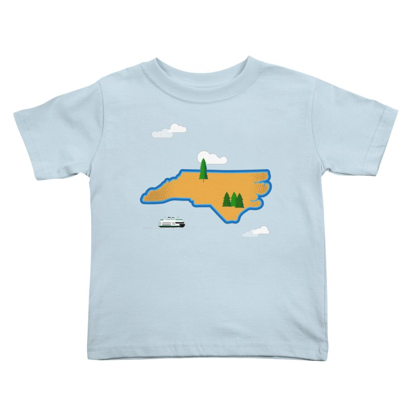 North Carolina Island Kids Toddler T-Shirt by Illustrations by Phil