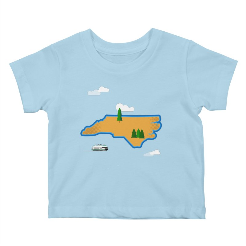 North Carolina Island Kids Baby T-Shirt by Illustrations by Phil