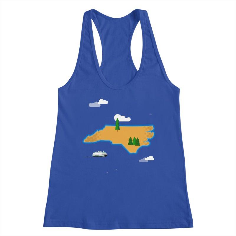 North Carolina Island Women's Racerback Tank by Illustrations by Phil