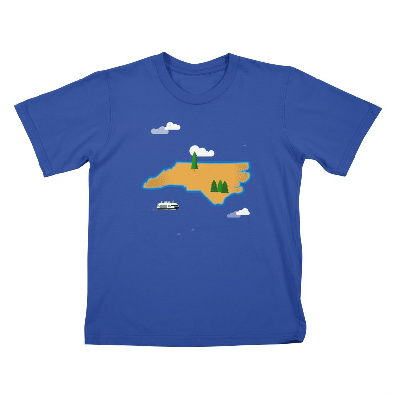North Carolina Island Kids T-Shirt by Illustrations by Phil