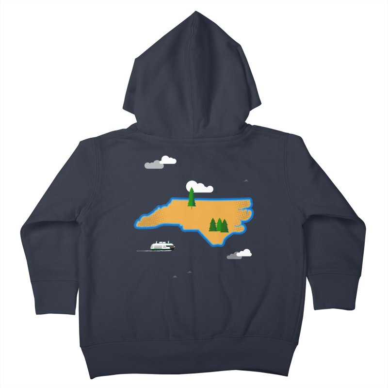 North Carolina Island Kids Toddler Zip-Up Hoody by Illustrations by Phil