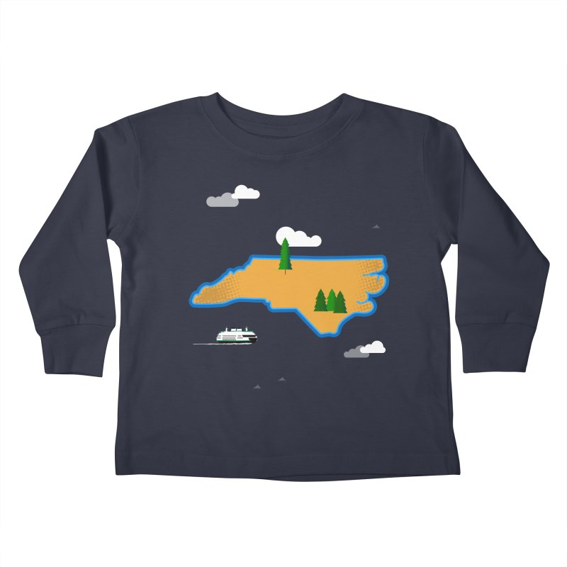 North Carolina Island Kids Toddler Longsleeve T-Shirt by Illustrations by Phil