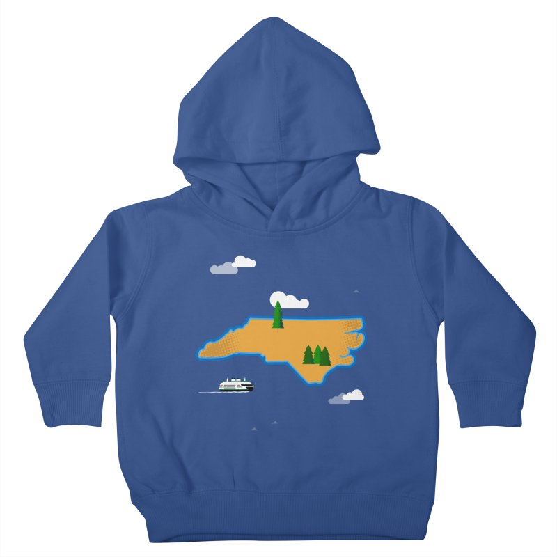 North Carolina Island Kids Toddler Pullover Hoody by Illustrations by Phil