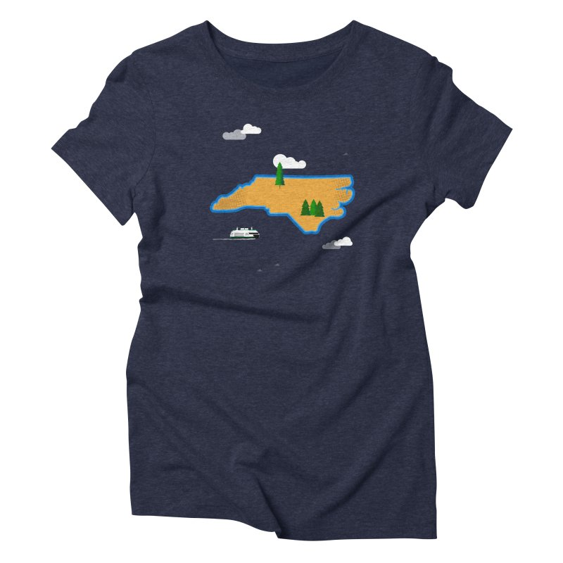 North Carolina Island Women's T-Shirt by Illustrations by Phil