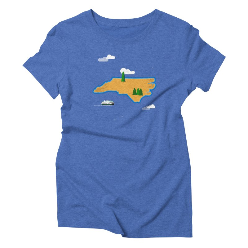 North Carolina Island Women's Triblend T-Shirt by Illustrations by Phil