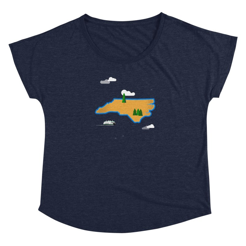 North Carolina Island Women's Scoop Neck by Illustrations by Phil