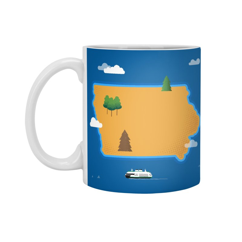 Iowa Island Accessories Standard Mug by Illustrations by Phil