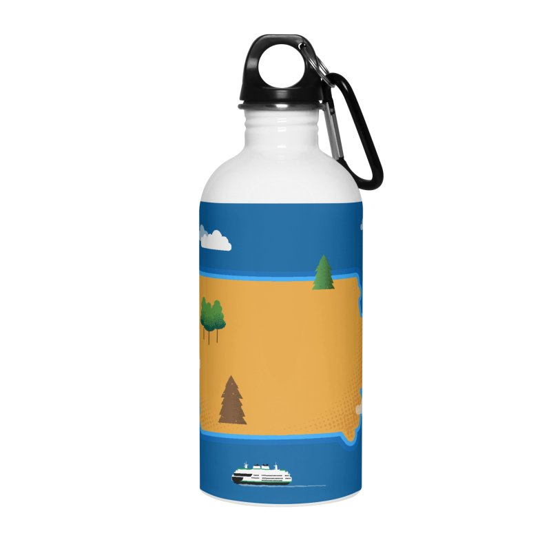 Iowa Island Accessories Water Bottle by Illustrations by Phil