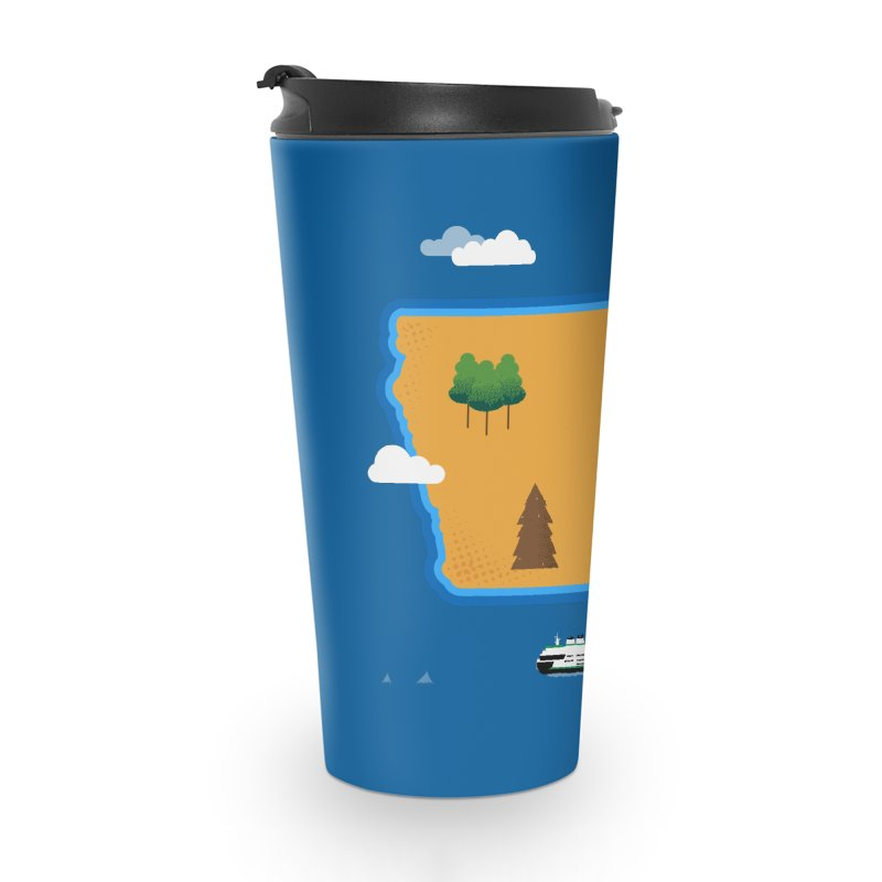 Iowa Island Accessories Travel Mug by Illustrations by Phil