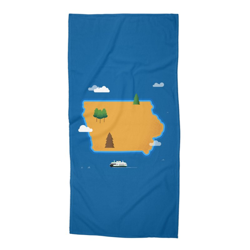Iowa Island Accessories Beach Towel by Illustrations by Phil