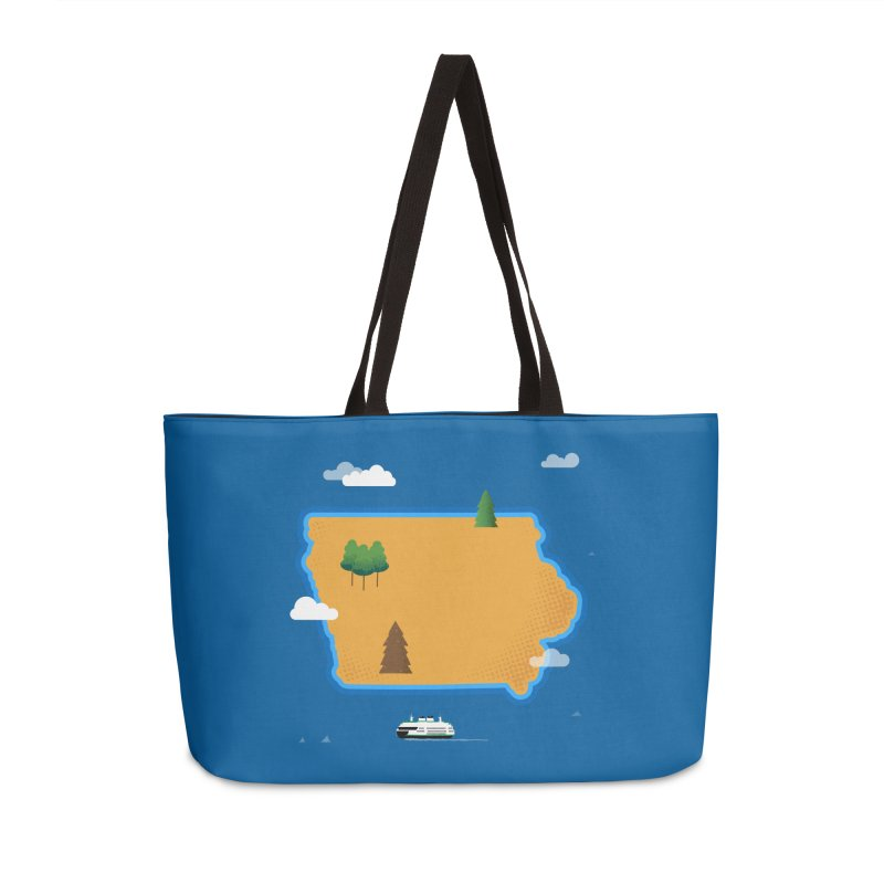 Iowa Island Accessories Weekender Bag Bag by Illustrations by Phil