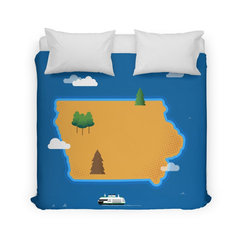 Iowa Island Home Duvet by Illustrations by Phil