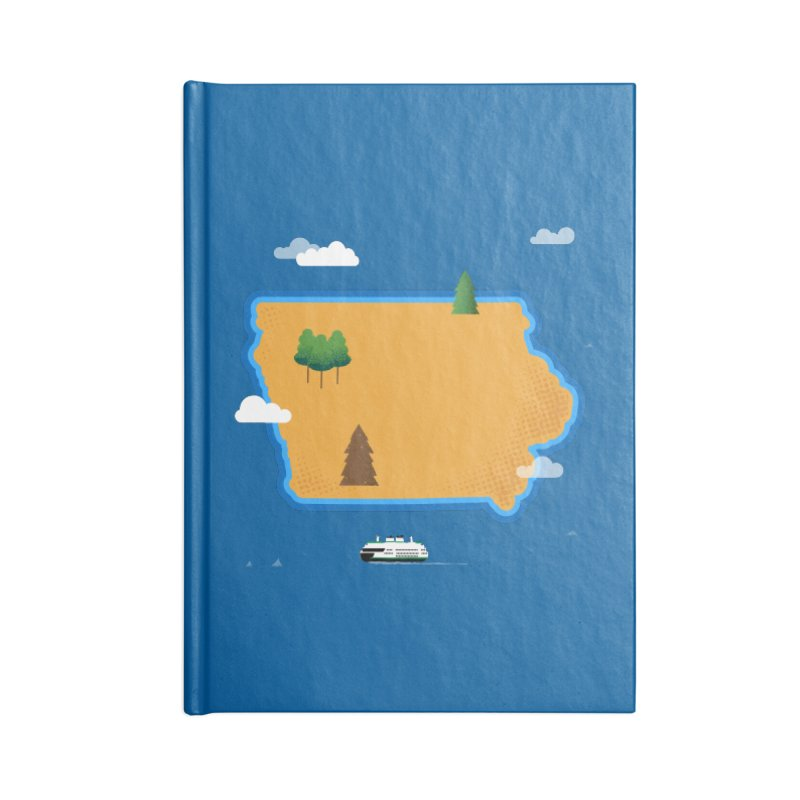 Iowa Island Accessories Blank Journal Notebook by Illustrations by Phil