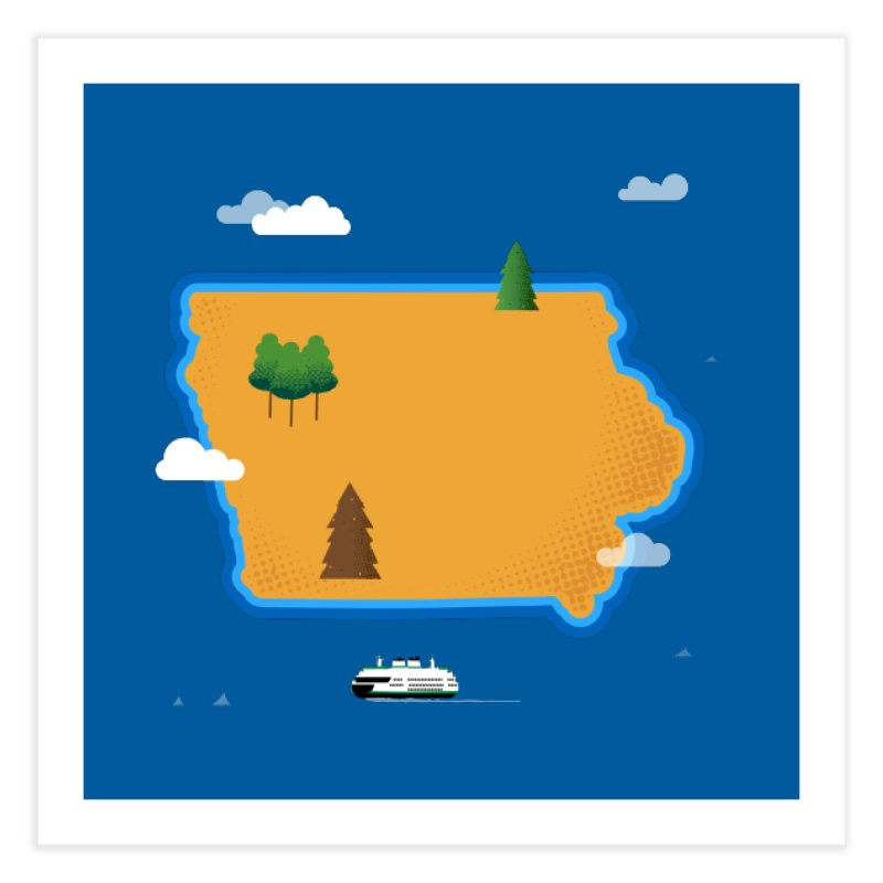 Iowa Island Home Fine Art Print by Illustrations by Phil