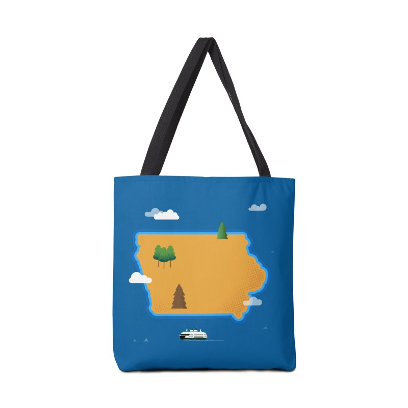 Iowa Island Accessories Tote Bag Bag by Illustrations by Phil