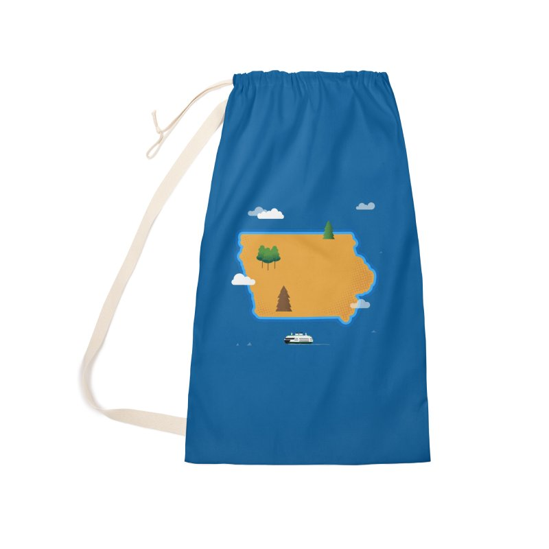 Iowa Island Accessories Laundry Bag Bag by Illustrations by Phil