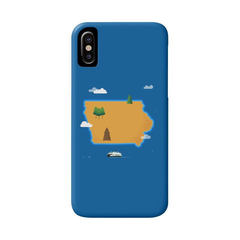 Iowa Island Accessories Phone Case by Illustrations by Phil